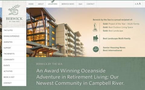 Screenshot of Locations Page berwickretirement.com - Home - Berwick By The Sea - Campbell River - captured Oct. 10, 2017