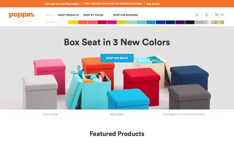 Screenshot of Home Page poppin.com - Poppin | Work Happy with Cool Office Supplies - captured Oct. 24, 2015