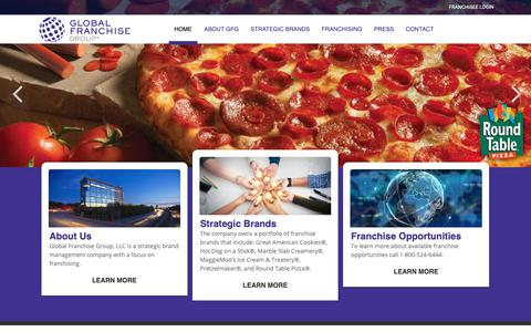 Screenshot of Home Page globalfranchise.com - Home   Global Franchise Group - captured Sept. 26, 2018