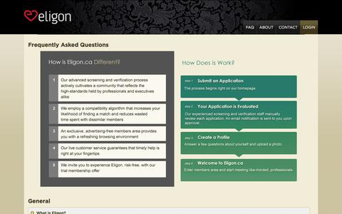 Screenshot of FAQ Page eligon.ca - Eligon - Frequently asked questions :: FAQ - captured July 29, 2017