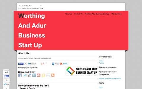 Screenshot of About Page wabizstartup.co.uk - About Us - +447928023910 | Worthing And Adur Business Start Up - captured Oct. 7, 2014