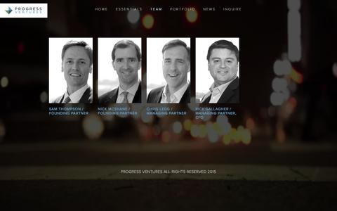 Screenshot of Team Page progressventures.com - TEAM Ń Progress Ventures - captured Dec. 13, 2015