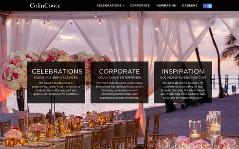 Screenshot of Home Page colincowie.com - Wedding & Event Planner, Destination Weddings, New York and California Weddings | Colin Cowie - captured Jan. 30, 2016