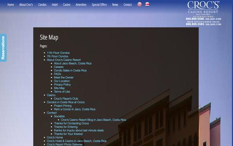 Screenshot of Site Map Page crocscasinoresort.com - Site Map - CrocsCasinoResort.com - captured Dec. 13, 2015