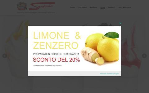 Screenshot of Press Page sanferba.com - News – SANFERBA - captured May 27, 2017