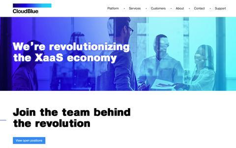 Screenshot of Jobs Page cloudblue.com - Careers | CloudBlue - captured Sept. 28, 2018