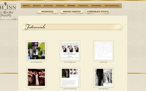 Screenshot of Testimonials Page innatnhp.com - Testimonials | The Inn At New Hyde Park - captured Nov. 3, 2014
