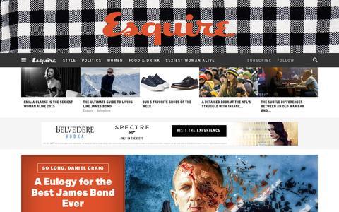 Screenshot of Home Page esquire.com - Esquire - Men's Fashion, Cocktails, Politics, Interviews, and Women - captured Nov. 3, 2015