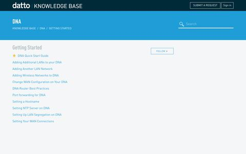 Screenshot of Support Page datto.com - Getting Started – Knowledge Base - captured June 14, 2017
