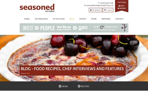 Screenshot of Blog seasonedbychefs.co.uk - Blog - Food Recipes, Chef Interviews and Features - captured Oct. 6, 2014