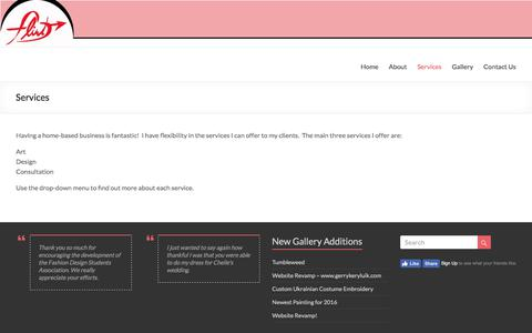 Screenshot of Services Page flirtdesigns.com - Services – Flirt Designs - captured June 6, 2017
