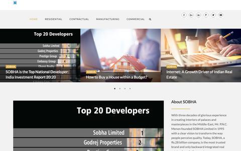 Screenshot of Blog sobha.com - SOBHA | Real Estate Bangalore - captured Nov. 28, 2018