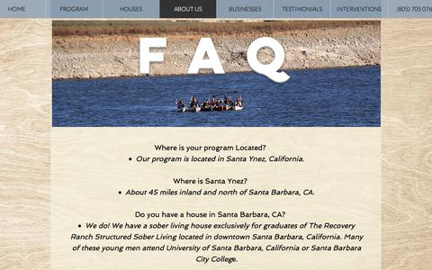 Screenshot of About Page therecoveryranch.com - About Our Structured Sober Living Home in Santa Barbara, California - captured Sept. 19, 2018