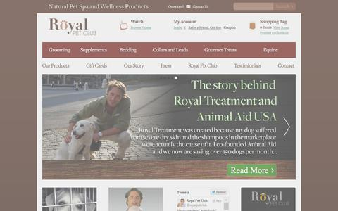Screenshot of Home Page royalpetclub.com - Organic Dog Shampoo   Natural Dog Shampoo   Pet Supplies for Dogs - captured Jan. 13, 2016