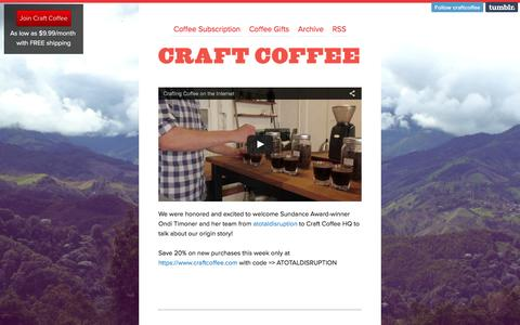 Screenshot of Blog craftcoffee.com - Craft Coffee Blog - captured March 19, 2016