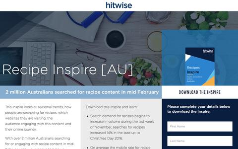 Screenshot of Landing Page connexity.com - Hitwise Inspire | Recipes - captured Sept. 19, 2018