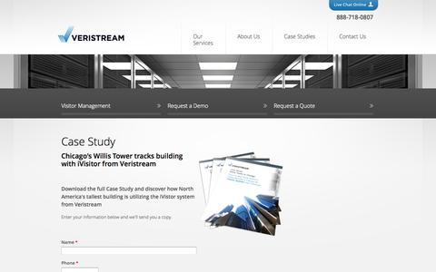 Screenshot of Case Studies Page veristream.com - Case Study | Veristream - captured Oct. 26, 2014