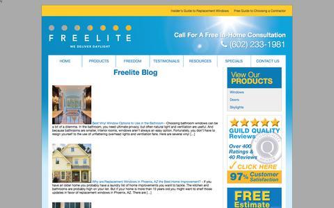 Screenshot of Blog freeliteaz.com - Our Replacement Window and Door Blog | Phoenix, AZ - captured Sept. 25, 2018