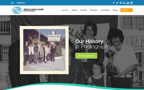 Screenshot of Home Page smbgc.org - Boys & Girls Clubs of Santa Monica | Lighting the way to great futures! - captured Jan. 24, 2015