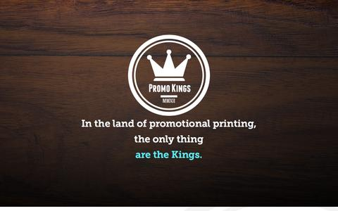 Screenshot of Home Page promokings.ca - Promo Kings MMXII! - captured Oct. 1, 2014