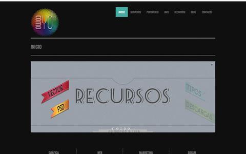 Screenshot of Home Page comoyodsg.com - Inicio - ✚ComoYoDsg - captured Sept. 23, 2014