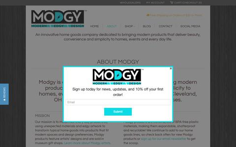 Screenshot of About Page modgy.com - About Modgy - captured Nov. 19, 2018