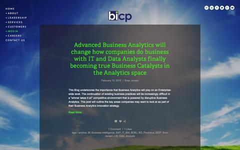 Screenshot of Blog bicp.com - Blog — BICP (Business Intelligence Competency Partners) - captured Dec. 28, 2015
