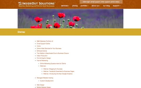 Screenshot of Site Map Page insideout.com - Sitemap - InsideOut Solutions - captured Sept. 24, 2014