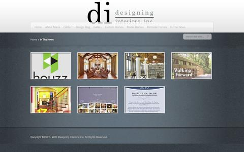 Screenshot of Press Page mariadiinc.com - In The News   Designing Interiors - captured Oct. 5, 2014