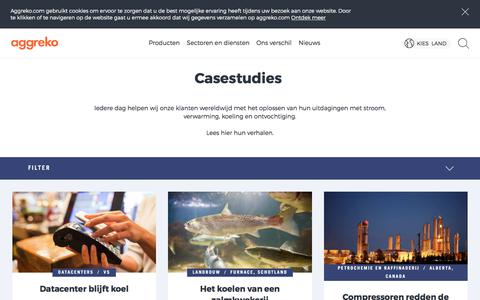 Screenshot of Case Studies Page aggreko.com - | Aggreko - captured Oct. 7, 2017