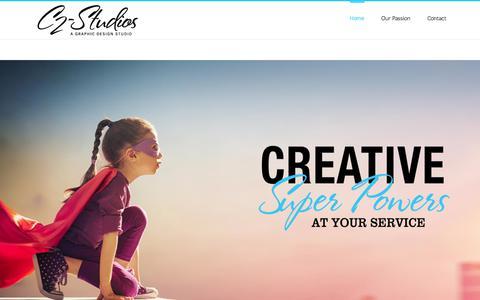 Screenshot of Home Page c2-studios.com - C2-Studios: Houston Graphic Design - captured July 9, 2017