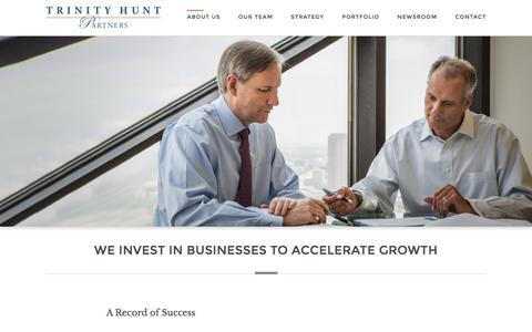 Screenshot of About Page trinityhunt.com - About us | Trinity Hunt Partners - captured Dec. 17, 2016