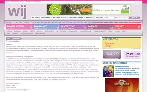 Screenshot of Privacy Page wij.nl - Privacy policy | WIJ.nl - captured Sept. 23, 2014