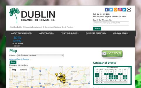 Screenshot of Maps & Directions Page dublinchamber.org - Map - Dublin Chamber of Commerce, OH - captured Dec. 19, 2018
