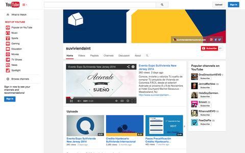 Screenshot of YouTube Page youtube.com - suviviendaint  - YouTube - captured Oct. 25, 2014