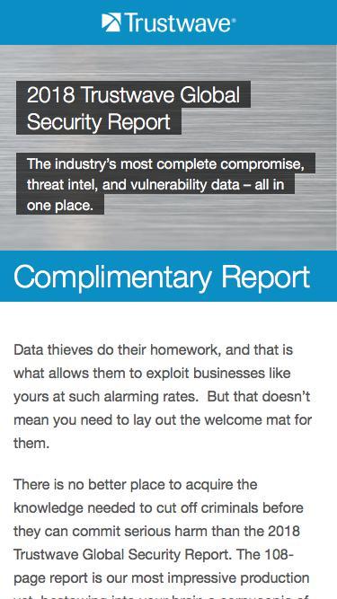 2018 Trustwave Global Security Report