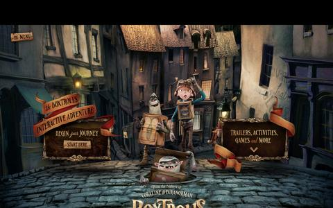 Screenshot of Menu Page theboxtrolls.com - The Boxtrolls - captured Nov. 4, 2014