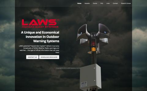 Screenshot of Home Page laws-systems.com - Laws Systems - captured Oct. 1, 2014