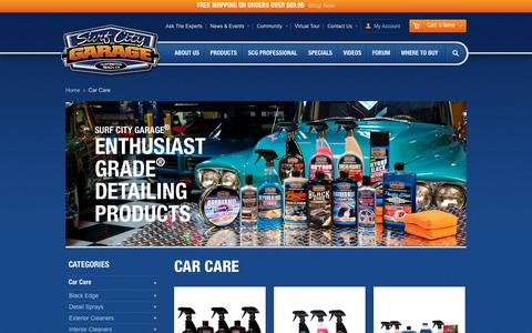 Screenshot of Products Page surfcitygarage.com - Surf City Garage - Car Care - captured Sept. 19, 2014
