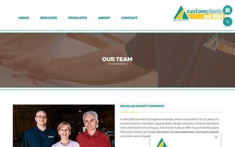 Screenshot of Team Page customplasticsandmore.com - Custom Plastics and More- Douglas County Company - captured Oct. 16, 2017