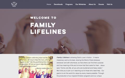 Screenshot of Home Page familylifelines.org - familylifelines - captured June 5, 2017