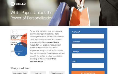 Screenshot of Landing Page reflektion.com - Reflektion | Boost Your Mobile Conversions - captured Oct. 20, 2016