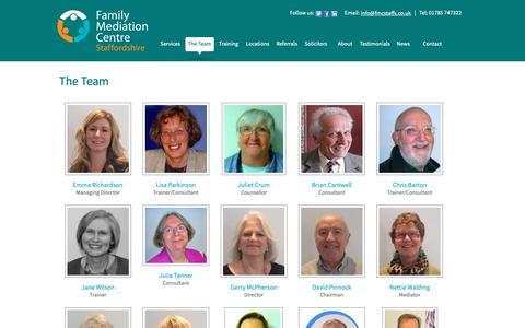 Screenshot of Team Page fmcstaffs.co.uk - The Team - captured Oct. 10, 2018