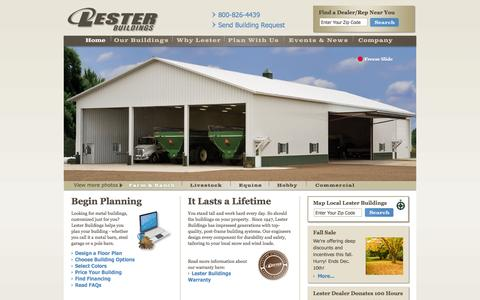 Pole Barns, Metal Buildings, Steel Buildings | Lester Buildings