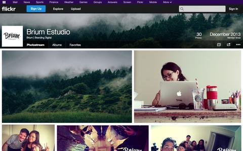 Screenshot of Flickr Page flickr.com - Flickr: Brium   Branding Digital's Photostream - captured Oct. 23, 2014