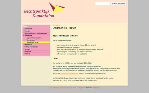 Screenshot of Services Page google.com - Opdracht & Tarief - Rechtspraktijk Dupantalon - captured Oct. 4, 2018