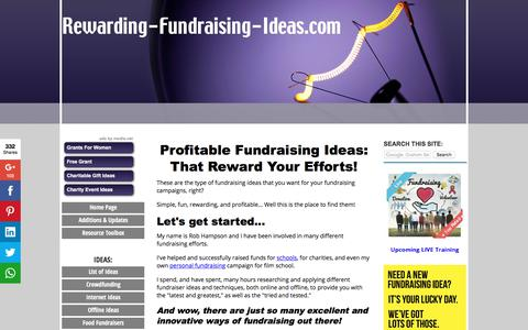 Screenshot of Home Page rewarding-fundraising-ideas.com - Rewarding Fundraising Ideas: The BEST Fundraisers & Tips - captured June 22, 2017