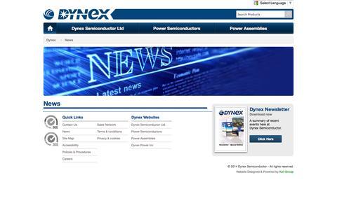 Screenshot of Press Page dynexsemi.com - News - captured Oct. 5, 2014