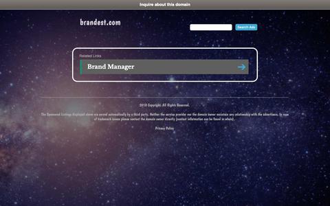 Screenshot of Home Page brandest.com - brandest.com - captured Nov. 6, 2018