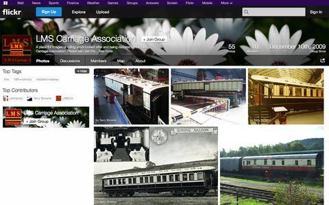 Screenshot of Flickr Page flickr.com - Flickr: The LMS Carriage Association Pool - captured Oct. 22, 2014